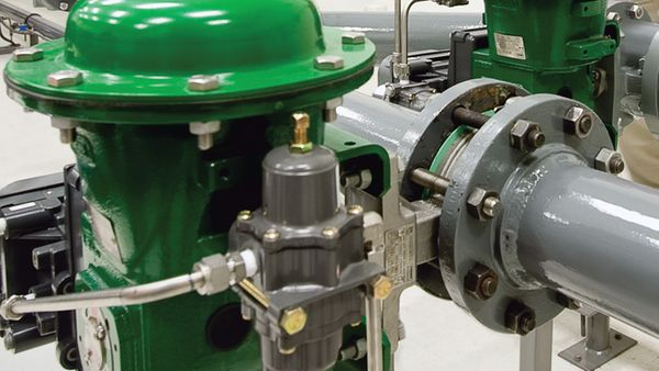 control valves emerson au engineer fisher valves in test lab