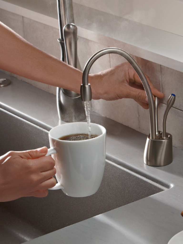 instant water hole mounted setup three soap handle touchless placement from finish faucets a and faucet options this includes to single sne kitchen dispenser hot side with technology