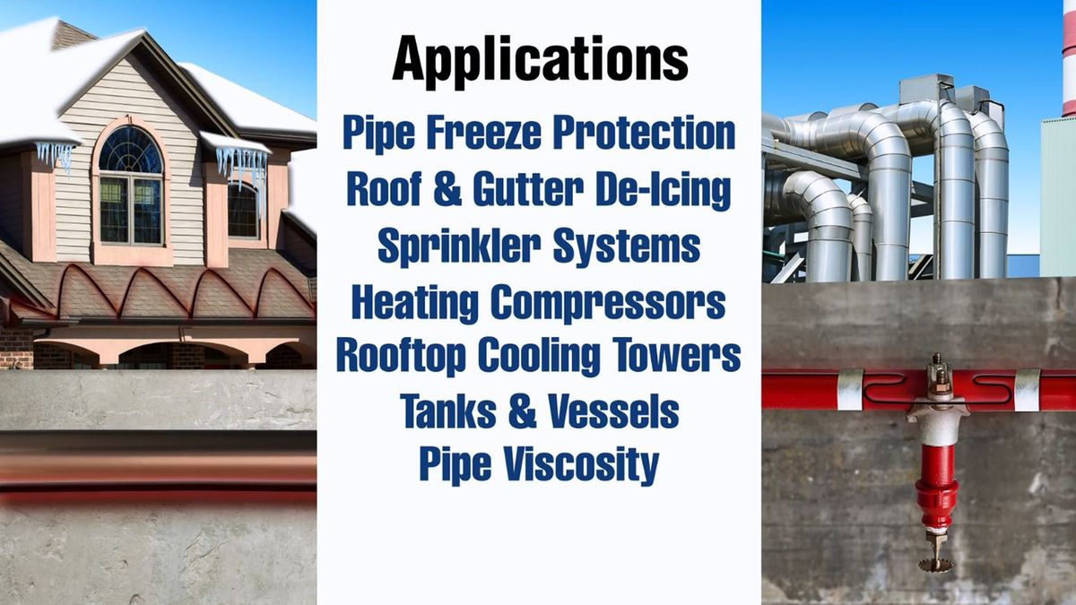 heating products for residential and commercial applications self regulating heating cables video