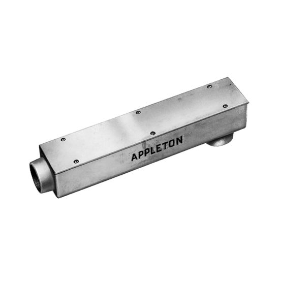 """APPLETON 1224 Pull Box with 2-1//2/"""" THREADED HUBS 24/"""" STRAIGHT"""